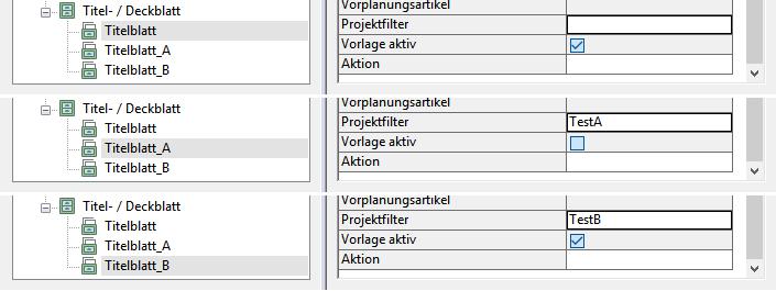 """Aktive Vorlagen wenn der Wert für den Dokumentenstatus """"W"""" ist."""