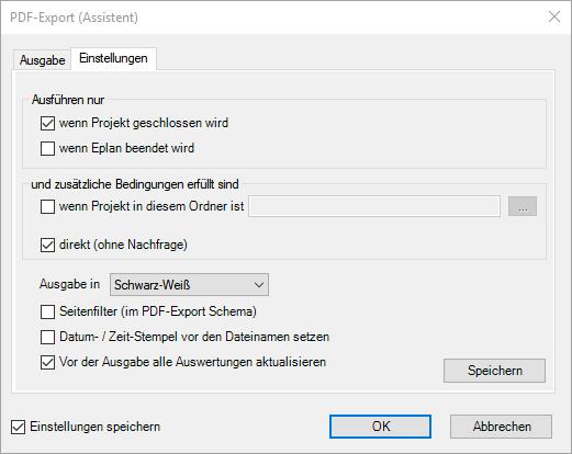PDF-Export automatisch